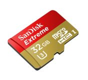 PHOTO SD-Card 32GB Sandisk SD CARD MICRO EXTREME SDHC 32GB SD ADAPTER+RESCUE PRO DELUX 60MB/S (SDS­DQXN-032G-G46A)